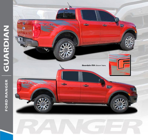 2019 Ford Ranger Bed Stripes GUARDIAN Body Vinyl Graphics Decal Kit 2019 2020