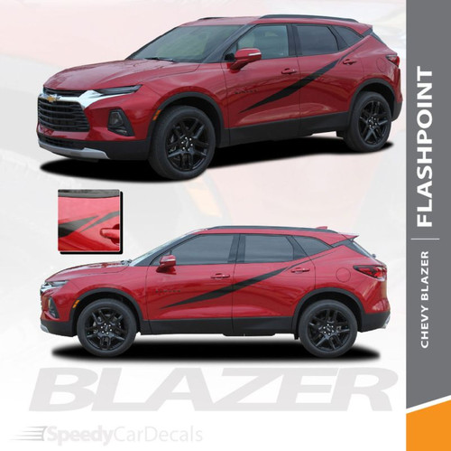 Chevy Blazer FLASHPOINT Door Stripes Door Decals Body Accent Vinyl Graphic Decal Stripe Kit 2019 2020 (6821)