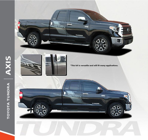 Toyota Tundra AXIS Side Door Decals Body Vinyl Graphics Stripe Kit for 2014 2015 2016 2017 2018 2019 2020 2021