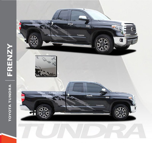 Toyota Tundra FRENZY Side Body Vinyl Graphics Splash Design Decal Stripes Kit for 2014 2015 2016 2017 2018 2019 2020 2021