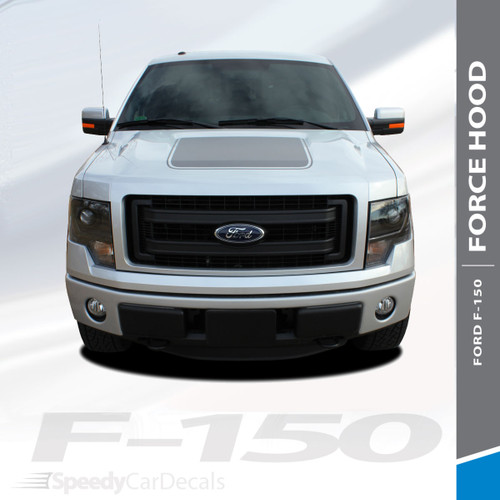 """FORCE HOOD SOLID : 2009-2014 Ford F-150 Hood """"Appearance Package Style"""" Vinyl Graphic Solid Color Decal Kit"""