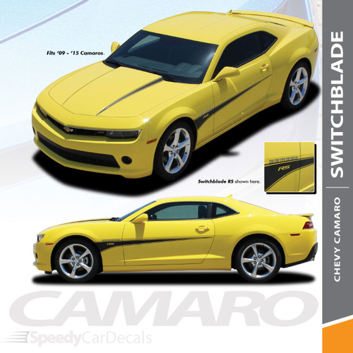 SWITCHBLADE   Chevy Camaro Body Decals Stripes 2010-2015 Wet and Dry Install Vinyl