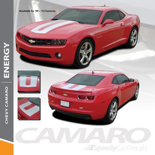ENERGY   Chevy 2010-2015 Camaro Rally Stripe Hood Graphics Wet and Dry Install Vinyl