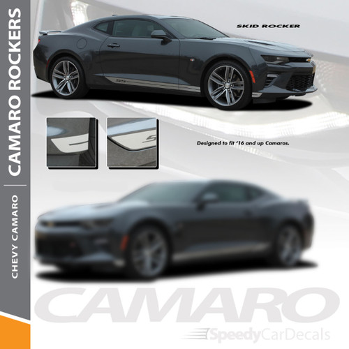 Camaro Side Decals SKID ROCKER 2016-2018 Rocker Stripe Lower Graphics Wet and Dry Install Vinyl
