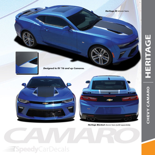 Camaro Racing Stripes HERITAGE Graphics and Stripes Decal Kit 2016-2018 Wet and Dry Install