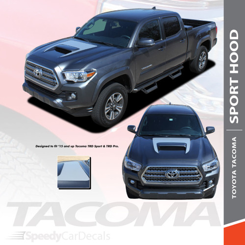 SPORT HOOD | Toyota Tacoma Hood Stripe TRD Pro 3M 2015-2021 Wet and Dry Install