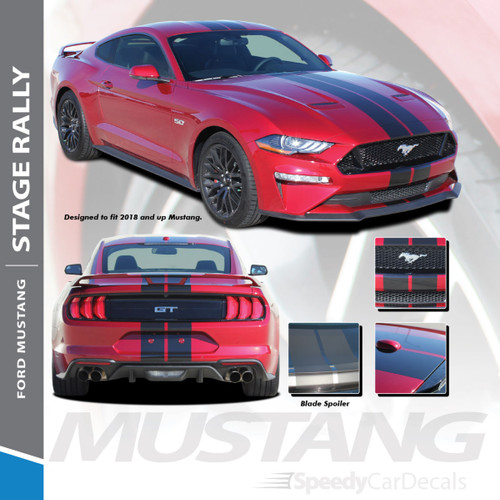 "2018 Ford Mustang Racing Stripes 7"" Wide 3M STAGE RALLY 2018 2019 2020 2021 Premium Auto Striping"