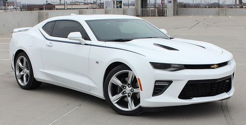 front view Chevy Camaro Side Upper Decal Kit 3M PIKE 2016-2017-2018