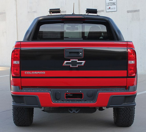 Red 2018 Chevy Colorado Tailgate Decals GRAND TAILGATE 2015-2020