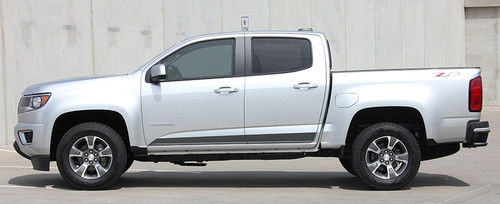 Profile view of 2020 GMC Canyon Side Stripes RAMPART 2015-2021