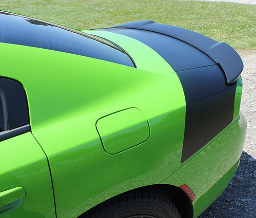 Rear angle of Daytona style Dodge Charger Rear Trunk Stripes TAIL BAND 2015-2020 2021