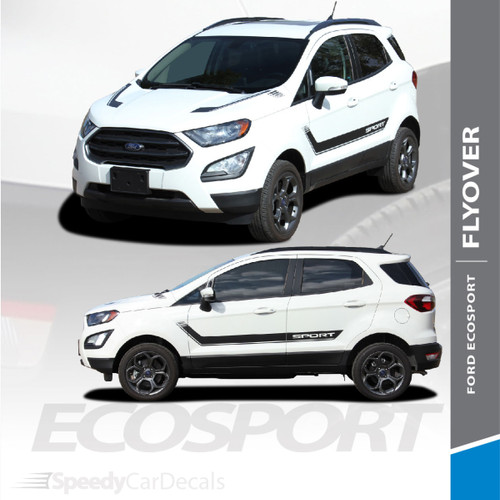 Ford EcoSport Side Door Stripes Hood Vinyl Graphics FLYOUT 3M 2013-2020 Premium Auto Striping