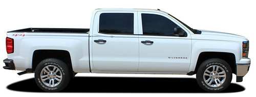 Side View of 2015 Chevy Silverado Upper Body Graphic Stripes ELITE 2013-2018