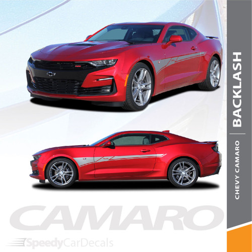 BACKLASH 2019 2020 Chevy Camaro Side Body Stripes Decals Vinyl Graphics Kit