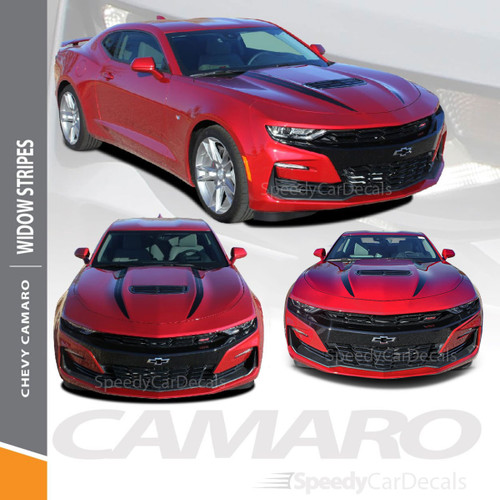 WIDOW 2019 2020 Chevy Camaro Spider Stripes Hood Spear Decals Vinyl Graphics Kit