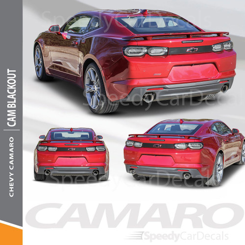 BLACKOUT 2019-2020 Chevy Camaro Decklid Blackout Decal Rear Trunk Vinyl Graphic Kit