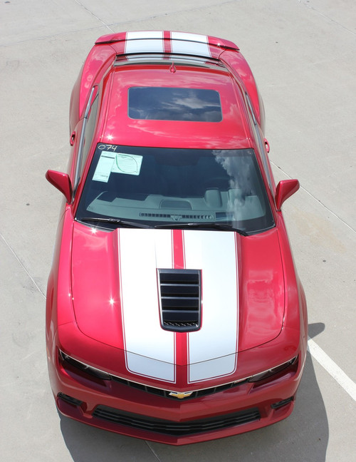 Top angle of 2014 Super Sport Camaro Racing Stripes S-SPORT PACKAGE 2014-2015