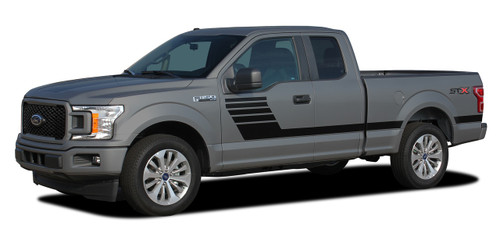 Side Profile of 2019 F150 Graphics Package LEAD FOOT 2015-2020
