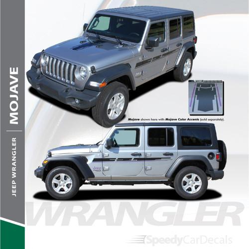 2018-2021 Jeep Wrangler Hood and Side Decals MOJAVE Stripe Kit 3M Premium Auto Striping Vinyl