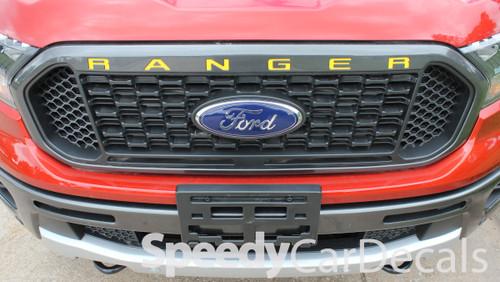 Ford Ranger Grill Stripes RANGER GRILL LETTERS 2019-2020 2021 | Standard Vinyl