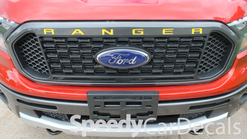 2019 Ford Ranger Grill Decals RANGER GRILL LETTERS 2019-2021