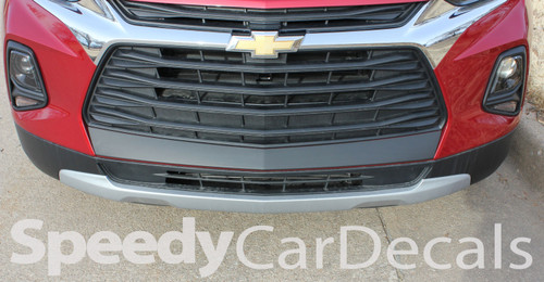 Front View of ERASER BUMPER GRAPHIC | 2019 2020 2021 Chevy Blazer Front Bumper Stripes