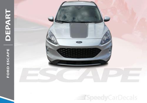 2020-2021 Ford Escape Center Hood Vinyl Graphics DEPART HOOD 3M
