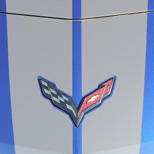 Close up View of Chevy Corvette C7 - Chevy Corvette Racing Stripes 2014-2019