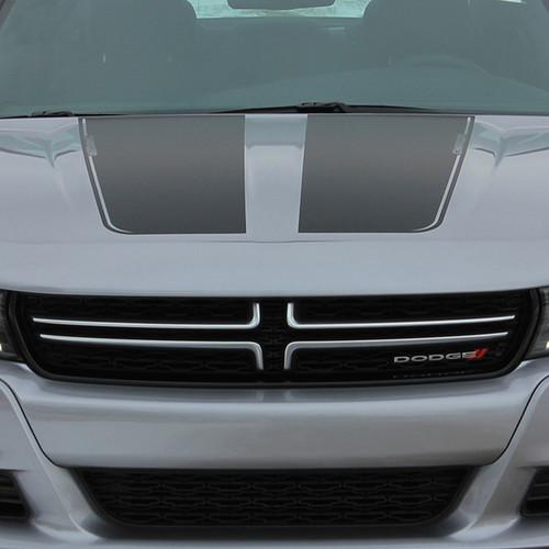 Hood view Dodge Charger Stripe Design RECHARGE 15 HOOD 2015-2021