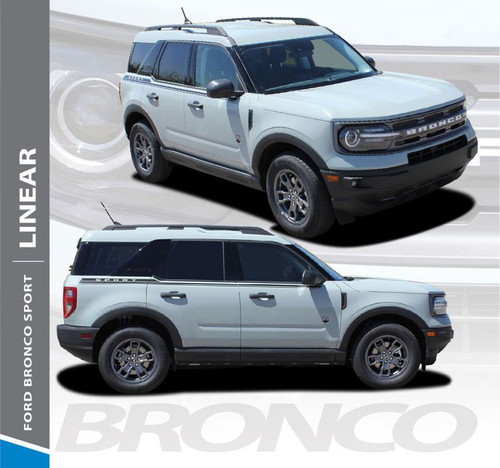 2021 Ford Bronco Side Stripes LINEAR 3M Premium Auto Striping