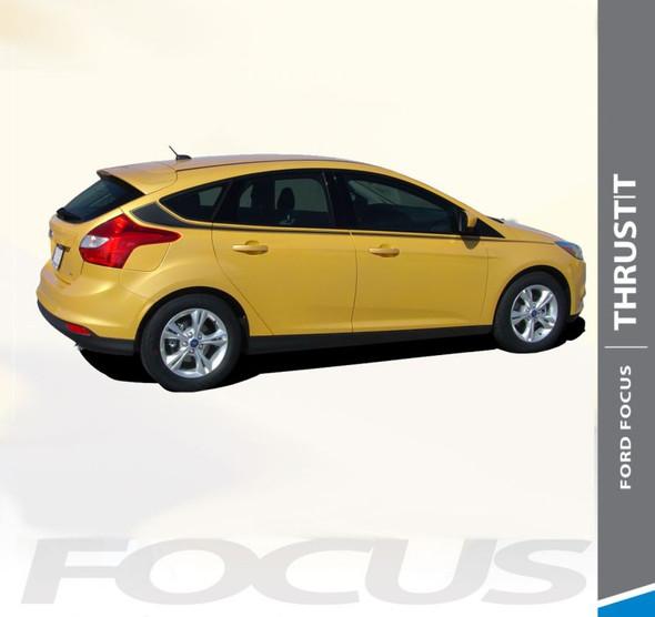 Ford Focus THRUST Upper Body Accent Door Accent Vinyl Graphics Kit 2012 2013 2014 2015 2016 2017 2018