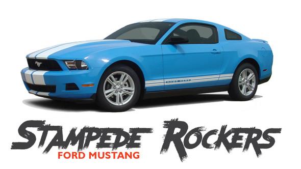 Ford Mustang STAMPEDE ROCKER Lower Door Panel Body Stripes Vinyl Graphics Decals 2010 2011 2012 Models