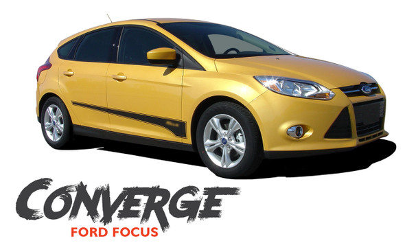 Ford Focus CONVERGE Lower Rocker Panel Door Body Vinyl Graphics Kit 2012 2013 2014 2015 2016 2017 2018