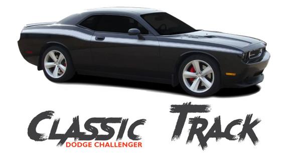 Dodge Challenger CLASSIC TRACK Upper Door Accent Body Line Striping Vinyl Graphic Kit 2011 2012 2013 2014 2015 2016 2017 2018 2019 2020
