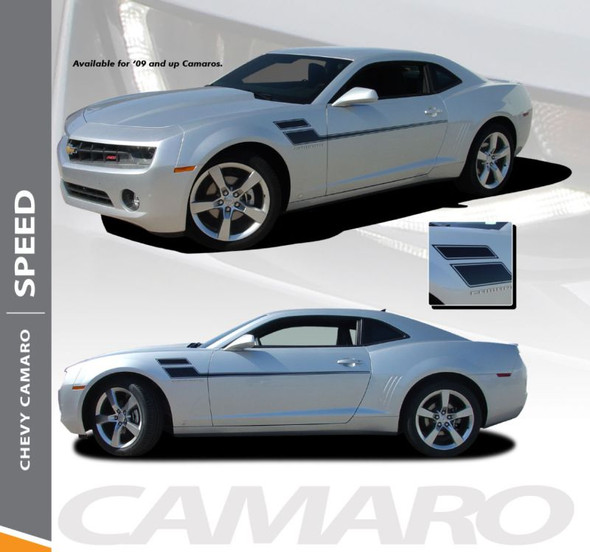 Chevy Camaro SPEED Side Door Hockey Body Decal Vinyl Graphics Stripe Decals Kit fits 2010 2011 2012 2013 2014 2015