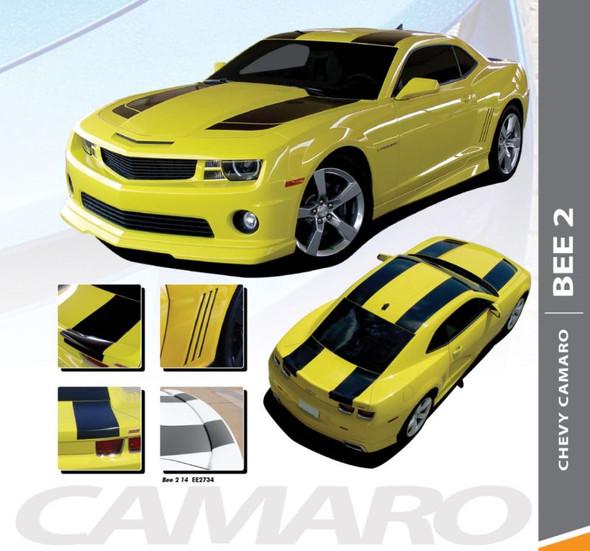 Chevy Camaro BEE 2 Tranformers Hood Racing Stripes Vinyl Graphics Kit 2010 2011 2012 2013 2014 2015