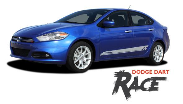 Dodge Dart RACE Lower Rocker Door Panel Vinyl Graphics Decals Body Stripes for 2013 2014 2015 2016