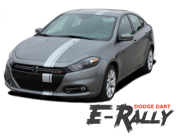 Dodge Dart EURO RALLY Bumper to Bumper Hood Racing Stripes Vinyl Graphic Decals for 2013 2014 2015 2016