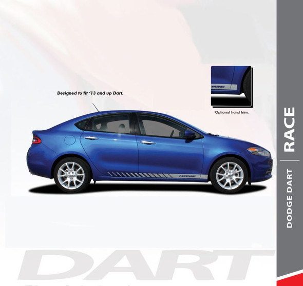 Dodge Dart DASH Lower Rocker Panel Door Body Vinyl Stripes Decals Graphics for 2013 2014 2015 2016