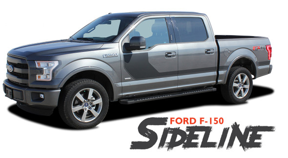 Ford F-150 SIDELINE Special Edition Appearance Package Style Door Hockey Stripe Vinyl Graphics Decals Kit 2015 2016 2017 2018 2019