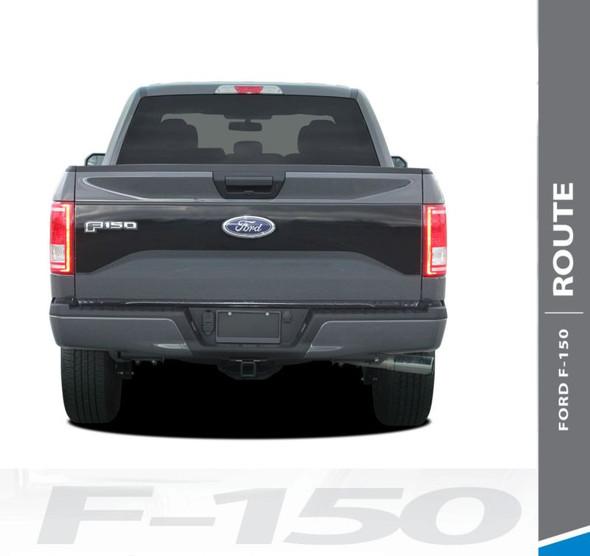 Ford F-150 RODE TAILGATE Pre-Cut Emblem Blackout Vinyl Graphic Decal Stripe Kit for 2015 2016 2017 Models