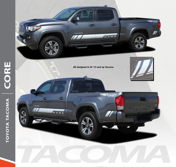 Toyota Tacoma TRD CORE Lower Door Rocker Panel Side Accent Vinyl Graphic Striping Decal Kit for 2015 2016 2017 2018 2019