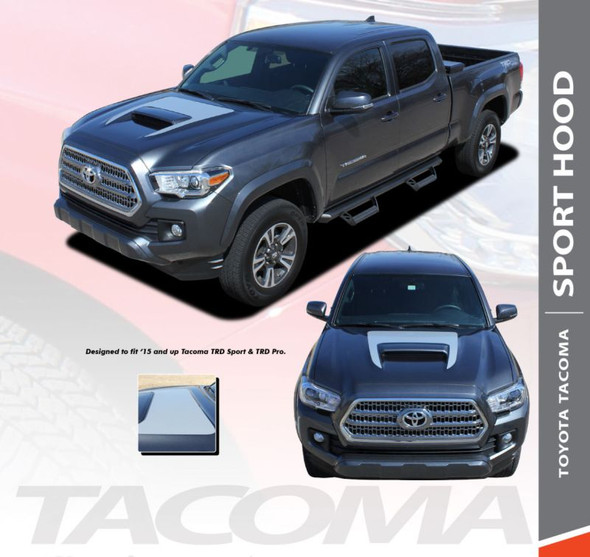 Toyota Tacoma TRD SPORT HOOD Air Intake Wrap Accent Vinyl Graphic Striping Decal Kit for 2015 2016 2017 2018 2019