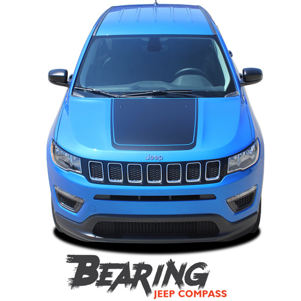 Jeep Compass BEARING VOID Hood Vinyl Graphics Decal Stripe Kit 2017 2018 2019
