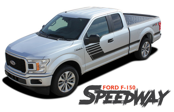 Ford F-150 SPEEDWAY Special Edition Appearance Package Style Door Hockey Stripe Vinyl Graphics Decals Kit 2015 2016 2017 2018 2019