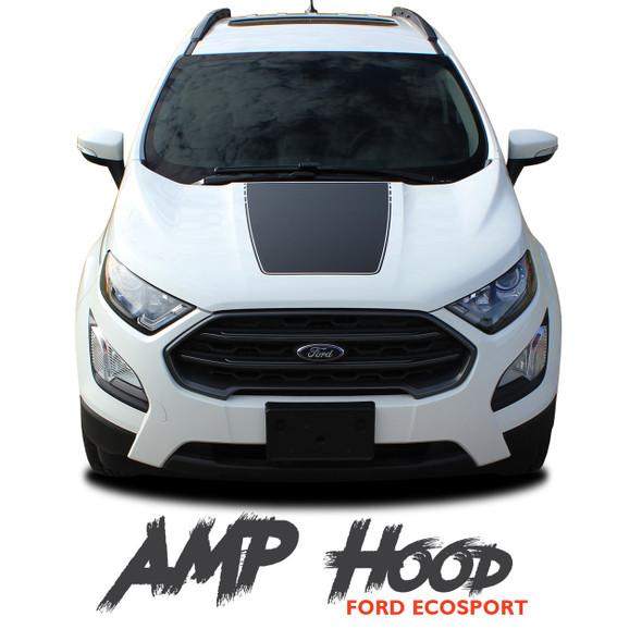 Ford EcoSport Center Hood AMP HOOD Vinyl Graphics Decal Stripe Kit 2013 2014 2015 2016 2017 2018 2019