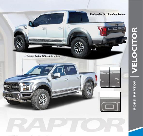 Ford Raptor Rocker Stripes VELOCITOR ROCKER Decals Door Vinyl Graphics Kit 2018 2019 2020