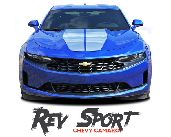 2019 2020 Chevy Camaro Racing Stripes REV SPORT Hood Decals and Trunk Vinyl Graphics Kit