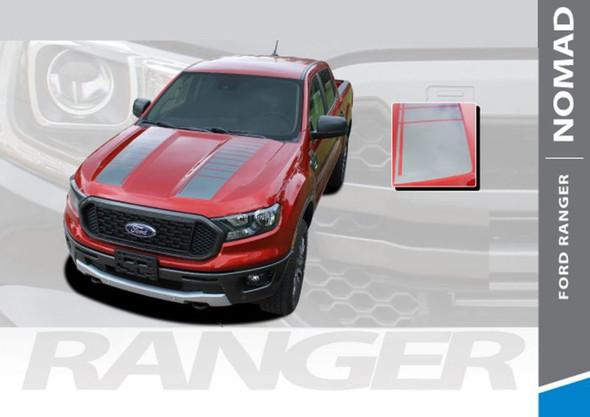 2019 Ford Ranger Hood Stripes NOMAD HOOD Body Vinyl Graphics Decal Kit 2019 2020
