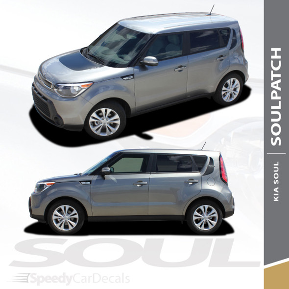 SOULPATCH Hood & Sides Graphics   2010-2011 & 2014-2019 Kia Soul Stripes 3M Wet Install and Avery Dry